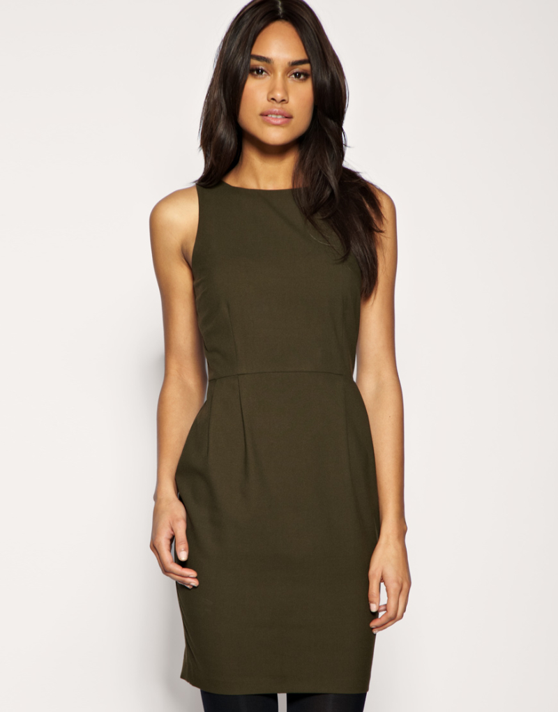 ASOS Tailored Wool Touch Pencil Dress для $27.55.